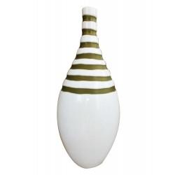 Βάζο γυάλινο λευκό-πράσινο Capolavoro 0271