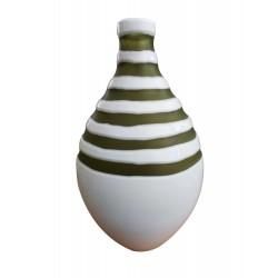 Βάζο γυάλινο λευκό-πράσινο Capolavoro 0272