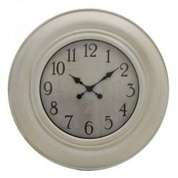 Ρολόι τοίχου pl λευκό αντικέ/χρυσό 75εκ inart 3-20-925-0005
