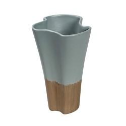 Βάζο κεραμικό βεραμάν-καφέ MINT 25.5 εκ
