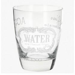 Ποτήρι νερού καθιστό WHITE TEXT 52440