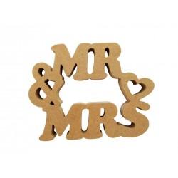 Mr & Mrs κυκλικό από 16mm MDF 2-16-1915-0004