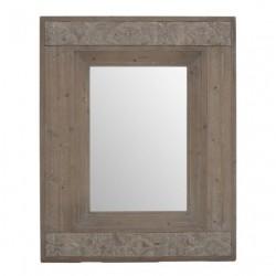 Καθρέφτης ξύλινος γκρι/καφέ 80 X 100 INART 3-95-794-0001