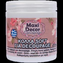 Κόλλα decoupage soft 250ml MAXI DECOR 430000984