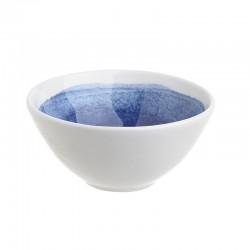 """Μπωλάκι κεραμικό στρογγυλό λευκό/μπλε """"μάτι"""" 16εκ INART 3-60-017-0018"""