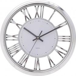 Ρολόι τοίχου πλαστικό ασημί λευκό 30,5εκ Ιnart 3-20-284-0121