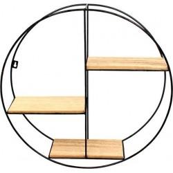 Ραφιέρα τοίχου μεταλ/ξύλο 50x12.5εκ INART 6-50-299-0002
