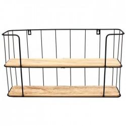 Ραφιέρα τοίχου μεταλ/ξύλο 53 χ 10 εκ INART 6-50-299-0007