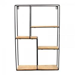 Ραφιέρα τοίχου μεταλ/ξύλο 36 χ 10 χ 55 εκ INART 6-50-299-0003