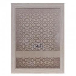 Κορνίζα Πλαστική  εφέ ξύλου μπεζ 13χ18 cm Inart 3-30-056-1485