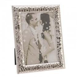 Κορνίζα Μεταλλική  Ασημί Σφυρήλατη 15χ20 cm Inart 3-30-056-1615