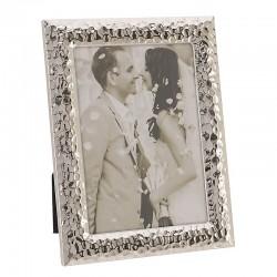 Κορνίζα Μεταλλική Ασημί Σφυρήλατη  20x25 cm Inart 3-30-056-1616