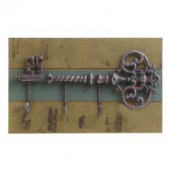 Κρεμάστρα ξύλινη με μεταλλικό κλειδί Inart 3-70-798-0275