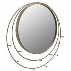Καθρέπτης τοίχου μεταλλικός στρογγυλός χρυσός 41x2x40εκ INART 3-95-145-0002