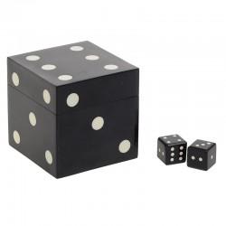 Σετ κουτί με 5 ζάρια 9,5X9,5X9,5 Inart 3-70-622-0005