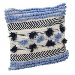 Μαξιλάρι 45Χ45  εκρού/μπλε/γαλάζιο Inart 3-40-485-0009