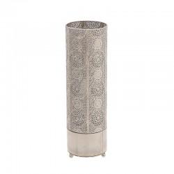 Φωτιστικό επιτραπέζιο μεταλλικό ασημί 45 εκ. Inart 3-15-303-0002