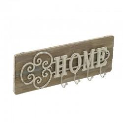 Κρεμάστρα ξύλο/μέταλλο HOME 4 θέσεων 42χ6χ15 Inart 3-70-052-0009