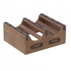 Μπουκαλοθήκη  ξύλινη 2 Θέσεων  24χ20χ10  Inart 3-70-314-0061