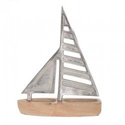 Καράβι Ξύλινο-Αλουμίνιο 28x7x35εκ. Ιnart 3-70-895-0003