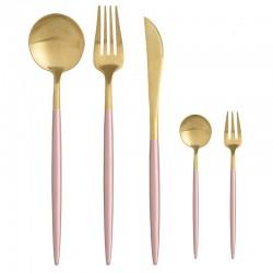 Σετ Μαχαιροπήρουνα 30 Τεμαχίων μέταλλο ροζ-χρυσό Inart 7-60-394-0018