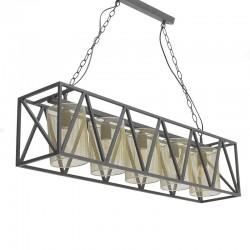 Φωτιστικό Οροφής 5φωτο μεταλλικό/ μαύρο-χρυσό Inart 3-10-716-0068
