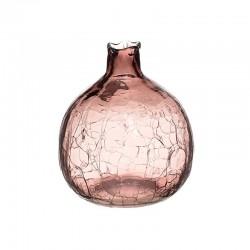 Ρόδι Γυάλινο  ροζ κρακελέ Inart 3-70-458-0012