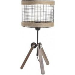 Φωτιστικό επιτραπέζιο μέταλλο/ξύλο  22x45εκ. Inart  6-15-584-0004