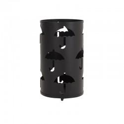 Ομπρελοθήκη μεταλλική κυλινδρική μαύρη 24x43εκ Inart 3-70-207-0067