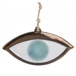 Διακοσμητικό τοίχου μάτι 36x1.5x19 Inart 3-70-354-0010