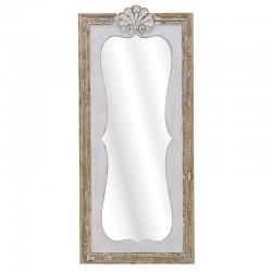 Καθρέπτης Τοίχου ξύλινος λευκό/φυσικό 50χ4χ113 Inart 3-95-440-0001