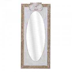 Καθρέπτης Τοίχου ξύλινος λευκό/φυσικό  50χ4χ110 Inart 3-95-440-0003