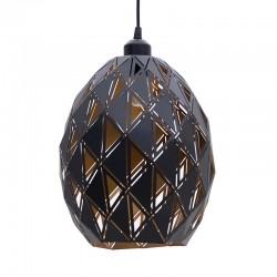 Φωτιστικό Οροφής μεταλλικό διάτρητο χρυσό/μαύρο 25χ30/120 Inart 3-10-151-0011