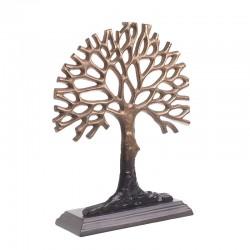 Δέντρο διακοσμητικό αλουμινίου μπρονζέ Inart 3-70-579-0057