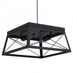 Φωτιστικό οροφής 2φωτο μέταλλο/ξύλο 3535x18εκ Inart 3-10-752-0042