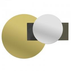 Καθρέπτης Τοίχου χρυσός-μαύρος 45χ2χ30 Inart 3-95-656-0001