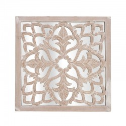 Διακοσμητικό τοίχου/Καθρέφτης ξύλινο 60χ60εκ INART 3-70-536-0036