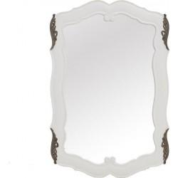 Καθρέπτης Τοίχου ξύλινος λευκός 60 × 2 × 90 cm  Inart 3-95-422-0002