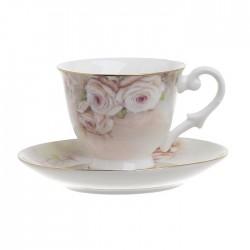 """Φλυτζάνια του καφέ σετ/6 πορσελάνης """"Λουλούδια"""" Inart 3-60-957-0017"""