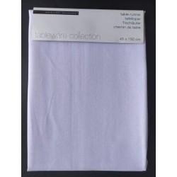 Τραβέρσα μονόχρωμη λευκή  45Χ150 JK collection 768132-1