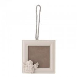 Ξύλινη κορνίζα τοίχου 'άγγελος΄ 12x2x23 cm Inart 3-30-204-0020