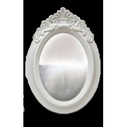 Καθρέφτης αντικέ πλαστικός λευκός επιτραπέζιος 17x25cm Κωδ. 0621250-1