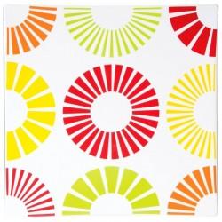 """Πιατέλα πορσελάνης τετράγωνη 35 εκ με χρωματιστούς κύκλους S&P \""""CITRUS\"""" 39037"""