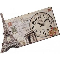 """Ρολόι επιτραπέζιο ξύλινο \""""PARIS\"""" 50924"""