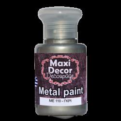Μεταλλικό ακρυλικό χρώμα MAXI DECOR  60 ml (ΓΚΡΙ) ME-110