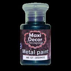 Μεταλλικό ακρυλικό χρώμα MAXI DECOR 60 ml (ΩΚΕΑΝΟΣ) ME-127