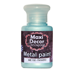 Μεταλλικό ακρυλικό χρώμα MAXI DECOR 60 ml (ΓΑΛΑΖΙΟ ME-132