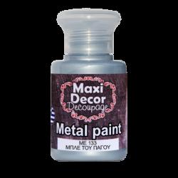 Μεταλλικό ακρυλικό χρώμα MAXI DECOR 60 ml (ΜΠΛΕ ΤΟΥ ΠΑΓΟΥ) ME-133