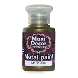 Μεταλλικό ακρυλικό χρώμα MAXI DECOR 60 ml (ΧΑΚΙ) ME-136