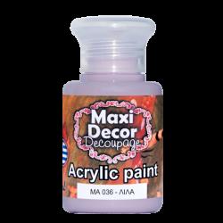 Ακρυλικό χρώμα 60 ml (ΛΙΛΑ) MAXI DECOR  MA-036